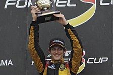 Formel 3 Cup - Tabellenf�hrer Kirchh�fer auf P2: Emil Bernstorff dominiert am Lausitzring