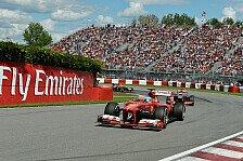 Formel 1 - Auch Reifen ein Problem: Ferrari: Absturz begann in Kanada