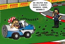 Formel 1 - Weckruf aus der Vergangenheit: Comic: Sekundenschlaf im Formel-1-Cockpit