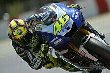 MotoGP - Kein gutes Gef�hl: Rossi startet aus Reihe drei