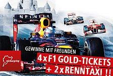 Formel 1 - Fahre mit Freunden an den N�rburgring: Gewinne vier F1-Tickets und zwei Renntaxi-Fahrten