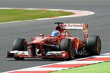 Formel 1 - Ferrari testet in Silverstone mit Alonso und Massa