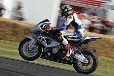 Bikes - Super zu fahren: Davies gibt in Goodwood mit der BMW HP4 Gas