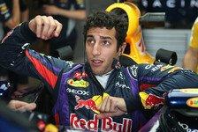Formel 1 - Breite H�ften und Red-Bull-Cockpit = schlechte Kombi: Ricciardo: Es ist nicht mein Arsch an sich