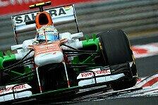 Formel 1 - Bekommen die Reifen in den Griff: Force India: Verst�rkung von Bridgestone