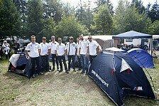 DTM - Dankesch�n an die Fans: BMW-Fahrer auf dem Campingplatz am N�rburgring