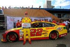 NASCAR - Rekordzeiten auch beim Michigan-Qualifying: Erste Saison-Pole f�r Logano