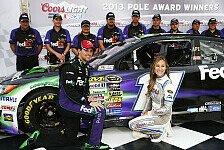 NASCAR - Kyle Busch startet beim Night-Race von hinten: Vierte Saison-Pole f�r Hamlin