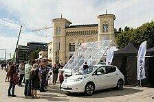 Auto - Mehr als 225 Elektrofahrzeuge in Oslo erwartet : Nissan Leaf f�hrt Weltrekordversuch an