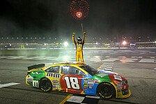 NASCAR - Hot'Lanta: Nacht-Krimi um die Chase-Pl�tze: Kyle Busch gewinnt viertes Saisonrennen