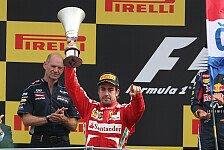 Formel 1 - Wie ein Sieger gefeiert: Alonso: Brauchen Ausf�lle von Vettel