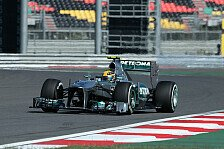 Formel 1 - Guter Auftakt f�r Mercedes: 2. Training: Hamilton in Korea on top