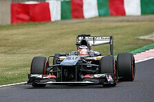 Formel 1 - H�lkenberg nicht in den Top-10: Solides Japan-Training f�r Sauber