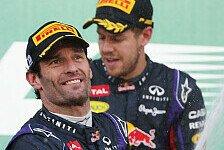 Formel 1 - Leute zuhause werden das nicht h�ren wollen: Webber: Neue Autos perfekt f�r Vettel