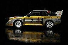 Auto - Serienautos und Rallye-Boliden vereint : Sonderausstellung 30 Jahre Sport quattro
