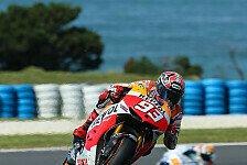 MotoGP - Wechsel�bung am Sonntagmorgen: Marquez f�hrt im Warm-Up voran