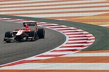 Formel 1 - Bianchi happy, Chilton mosert: Balance des Autos bei Marussia im Fokus
