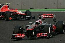 Formel 1 - Schleichender Plattfu� erzwingt fr�hen Boxenstopp: Kollision mit Alonso ruiniert Buttons Rennen