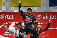 Formel 1 - Bilder: Indien GP - Podium