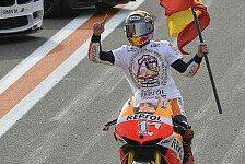 MotoGP - Marquez und Honda klare Sieger, Ducati und Aspar weit hinterher: Valencia-Test-Analyse: Marquez top, Crutchlow Flop