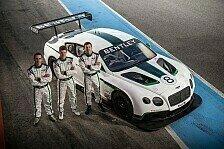 Mehr Sportwagen - Renndeb�t des Continental GT3: Bentley gibt Fahrerpaarung bekannt