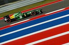 Formel 1 - Keine �berraschungen am Freitag: Caterham: Amerikaner Rossi schreibt Geschichte