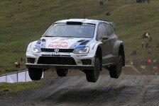 WRC - Eins, drei und vier: Volkswagen in Wales: Dominanz im Dreierpack