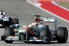Formel 1 - Force India als Reifenfresser: Di Resta gingen die Reifen ein