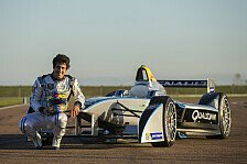 Formel E - Lucas di Grassi am Steuer: Formel E: Erste Demo-Fahrt in Las Vegas
