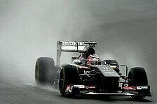 Formel 1 - Q3 das Maximum f�r uns: H�lkenberg kleiner Lichtblick im Regen