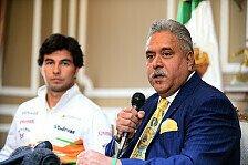 Formel 1 - Fahrer mit Hunger gefragt: Mallya glaubt nicht an das Paydriver-Konzept