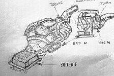Formel 1 - Exklusive Zeichnung des Motors: So sieht Ferraris neuer V6-Turbo aus