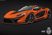 Auto - Night Glow: McLaren P1 mit Hybrid