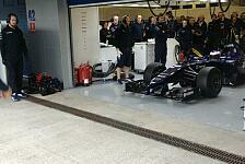 Formel 1 - Mit Versp�tung im Cockpit: Bottas auf Jungfernfahrt mit dem FW36