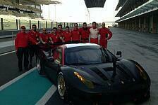 WEC - Nur kleinere Updates: AF Corse komplettiert Test in Abu Dhabi