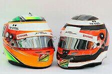 Formel 1 - Bilder: Fahrerhelme Force India