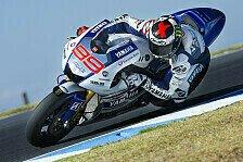 MotoGP - Datensammeln im Vordergrund: Phillip Island: Lorenzo erneut mit Testbestzeit
