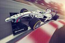 Formel 1 - Legend�re Farben: Offiziell: Williams 2014 im Martini-Design