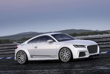 Auto - Vierzylinder 2.0 TFSI Motor mit 420 PS: Das Showcar Audi TT quattro sport concept
