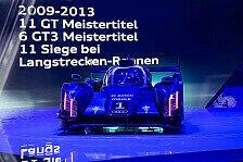 WEC - Mit dem Rennwagen �ber Landstra�en: Audi: Spezielle Technik-Pr�sentation in Le Mans