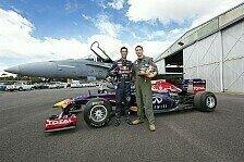 Formel 1 - Bilder: Red Bull vs. Flugzeug
