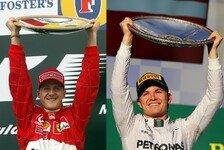 Formel 1 - Statistik spricht f�r Rosberg: Auftaktsieger = Weltmeister?