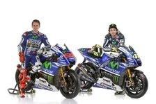 MotoGP - Rossi und Lorenzo enth�llen endg�ltige M1: Yamaha pr�sentiert neue Lackierung