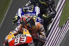 MotoGP - Bilder: Katar GP - Zweikampf Marquez vs. Rossi