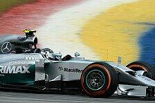 Formel 1 - Rot jagt Silber: 2. Training: Rosberg hauchd�nn vor R�ikk�nen