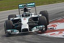 Formel 1 - Haben aus Fehlern von Melbourne gelernt: Rosberg trotz Startplatz drei zufrieden