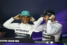 Formel 1 - Freunde mit H�hen und Tiefen: Hamilton & Rosberg: Friedenspfeife!