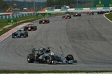 Formel 1 - Silberpfeile jubeln doppelt : Malaysia GP: Dominanter Sieg f�r Hamilton