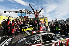NASCAR - Lackaustausch im Sekundentakt: Kurt Busch bezwingt Johnson