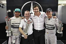 Formel 1 - Erfolg f�r Mercedes steht �ber allem: Wolff: Kannibalisierung von Leistung inakzeptabel
